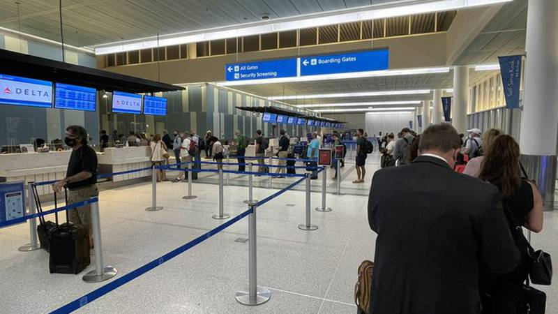 There has not been any word from the airport on reasons for the longer than normal lines.