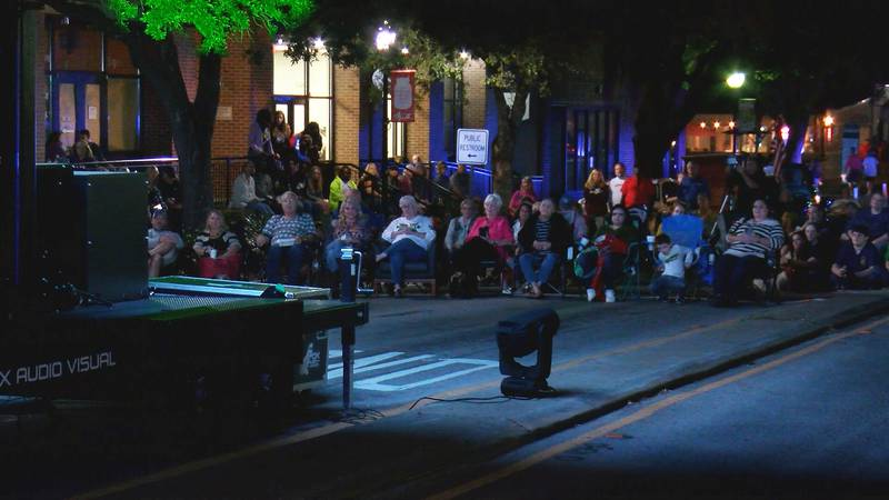 Community members turn out for a screening of The Green Wave hosted in Hutchinson Square.