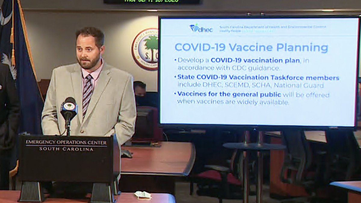 Officials with the South Carolina Department of Health and Environmental Control said COVID-19...