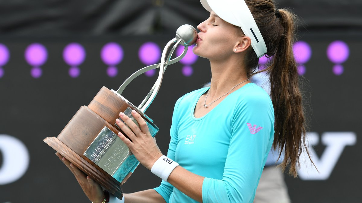 Veronkia Kudermetova gets her 1st WTA championship winning the Volvo Car Open in straight sets...