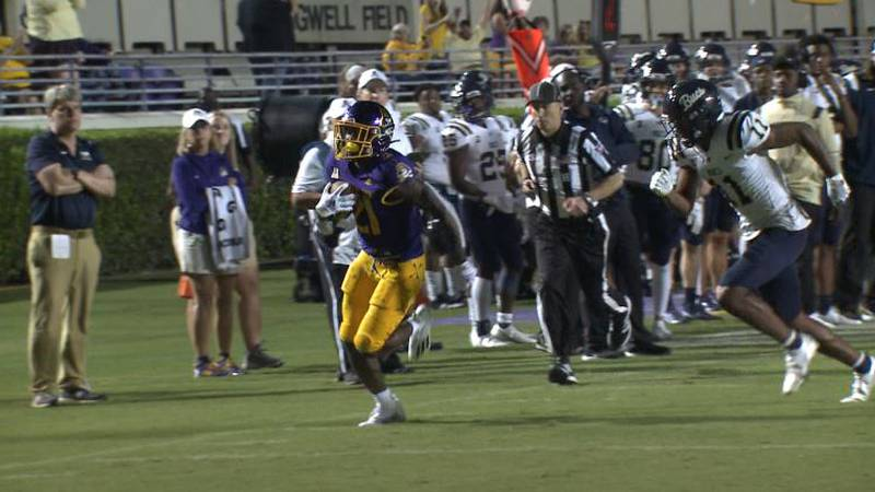 ECU football holds off scare from Charleston Southern