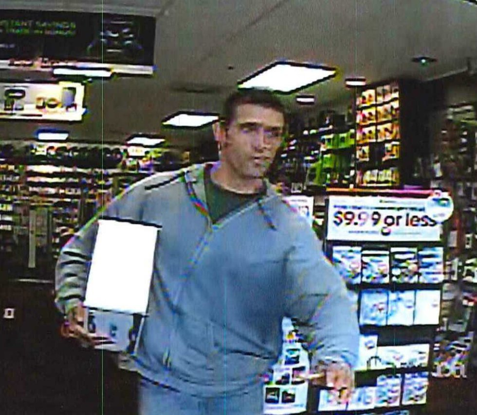 Deputies say the suspect left the store with an X-Box without paying. (Source: CCSO)