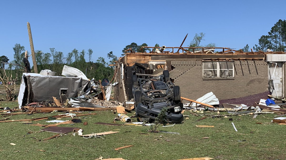 Storm damage in Nixville, S.C.