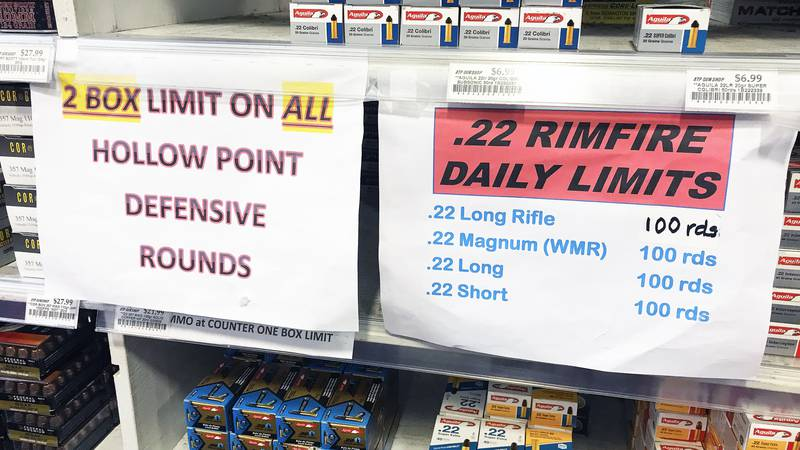 Gun shop owners say they are running out of ammunition to sell to customers. One gun shop owner...
