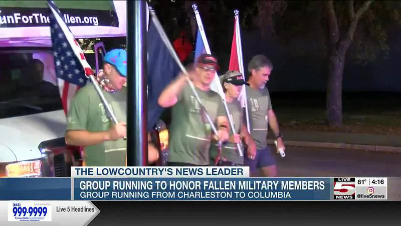 VIDEO: Group to run from Charleston to Columbia to honor fallen military members