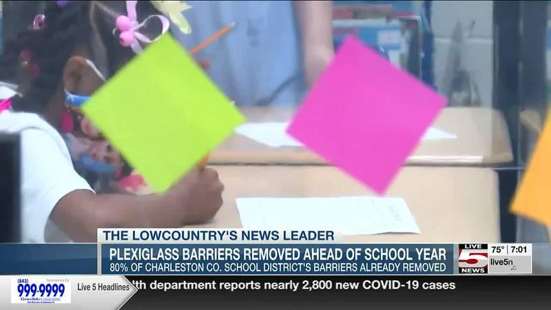VIDEO: Charleston County School District removing plexiglass barriers ahead of new school year
