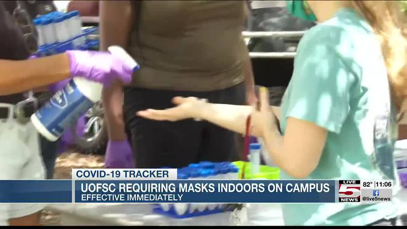 VIDEO: University of South Carolina requiring face masks indoors on campus