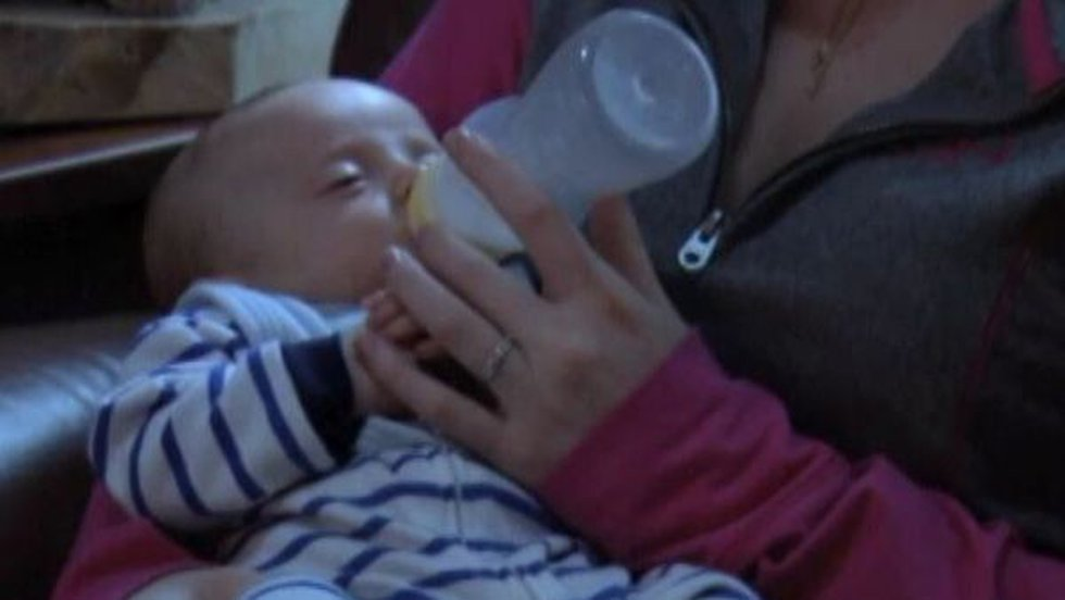 When the baby didn't take to breastfeeding, the mother started feeding him homemade goat milk...