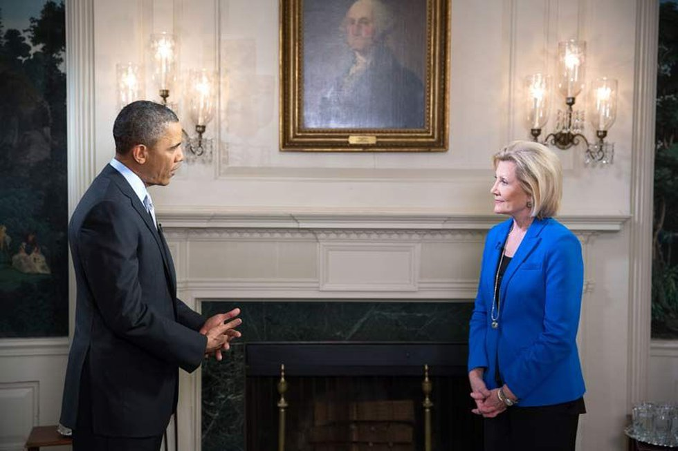 Debi interviewed President Barack Obama at the White House in 2013. (Source: Live 5)