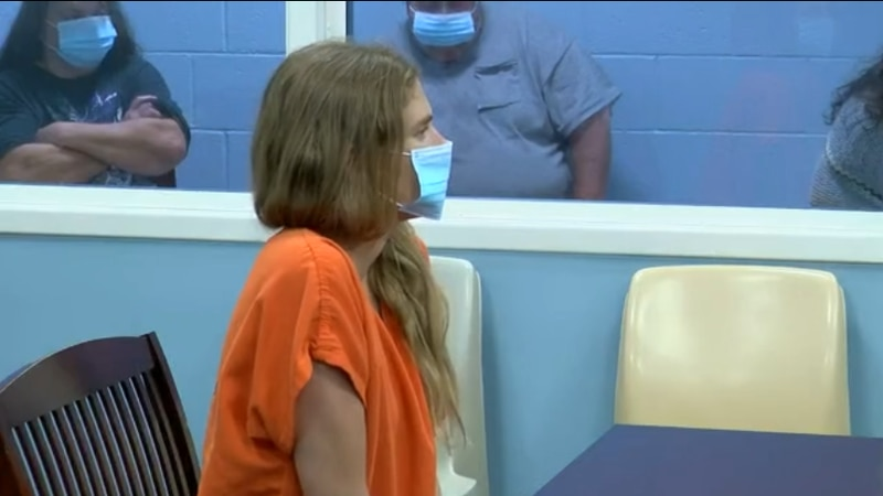 Meagan Jackson appeared for a bond hearing Friday afternoon on child neglect charges.