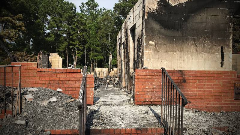 One year after a fire ravaged a Berkeley County church, the congregation is still holding...
