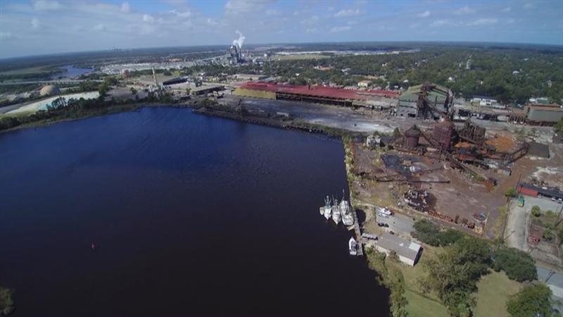 Georgetown Steel Mill (Source: Live 5 News Skytracker 5)