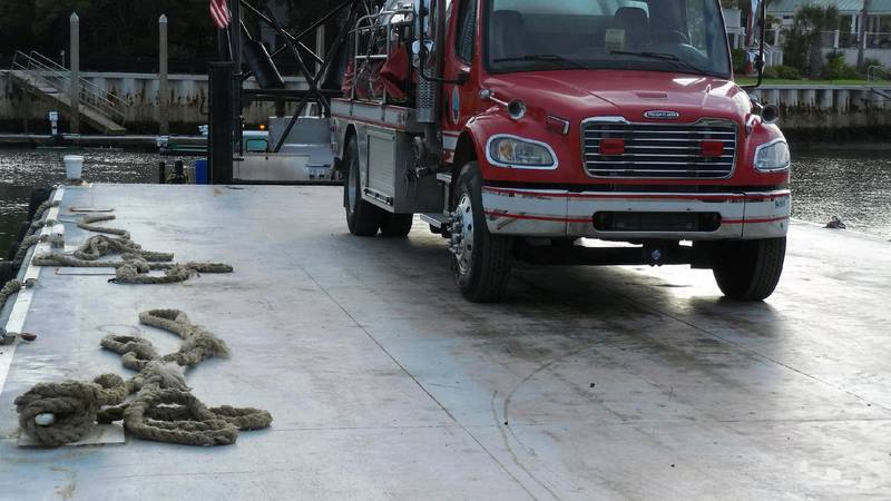 The Awendaw-McClellanville Fire District says they're responding to a water issue on Dewees...