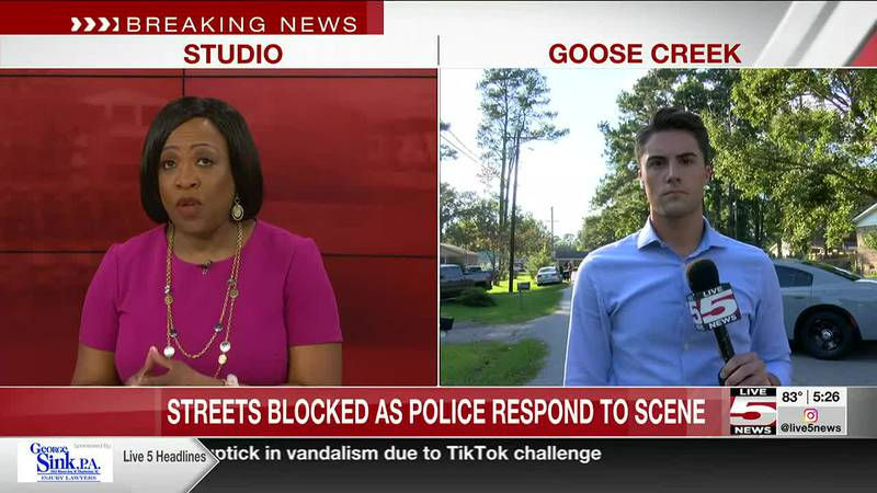 VIDEO: Police officers investigating incident at Goose Creek neighborhood