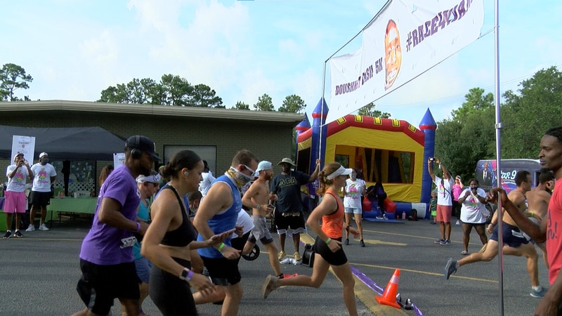 "Around 200 runners took part in the annual ""Doughnut Dash"" 5K run in memory of TyWanza Sanders,..."