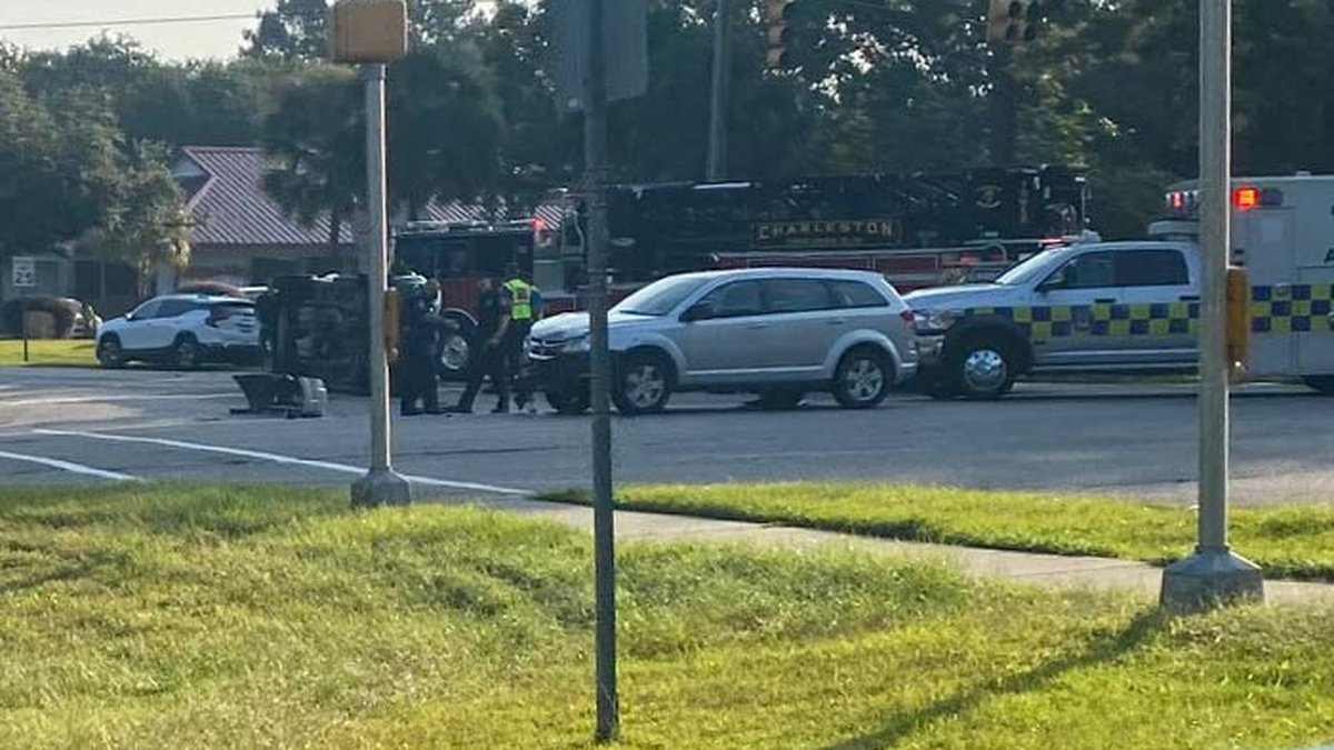 The crash blocked the right-turn lane from Mary Ader Avenue onto Glenn McConnell Parkway.