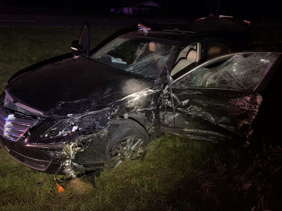 Two injured, one possibly serious, in Beaufort Co. crash