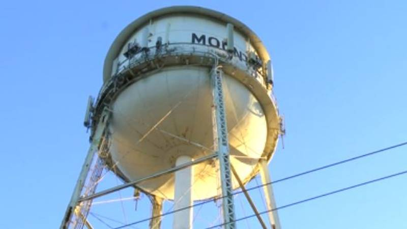 The Mount Pleasant water tower doubles as a cell tower (Source: Live 5)