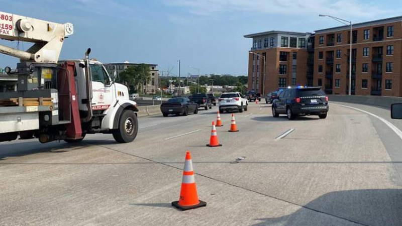 The crash happened in the westbound lanes between the Crosstown and the Ravenel Bridge on-ramp.