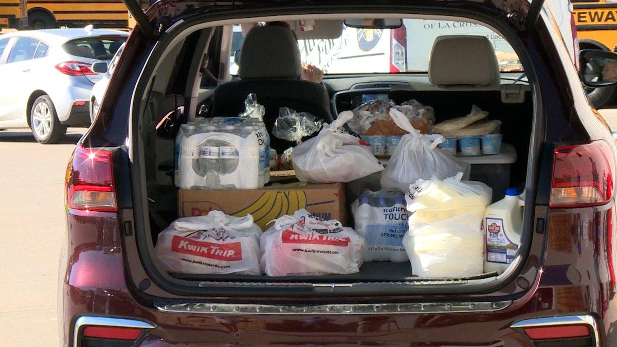Refuge Bibleway Food Bank Committee Member Loretta Dantzler says the free food give away will...