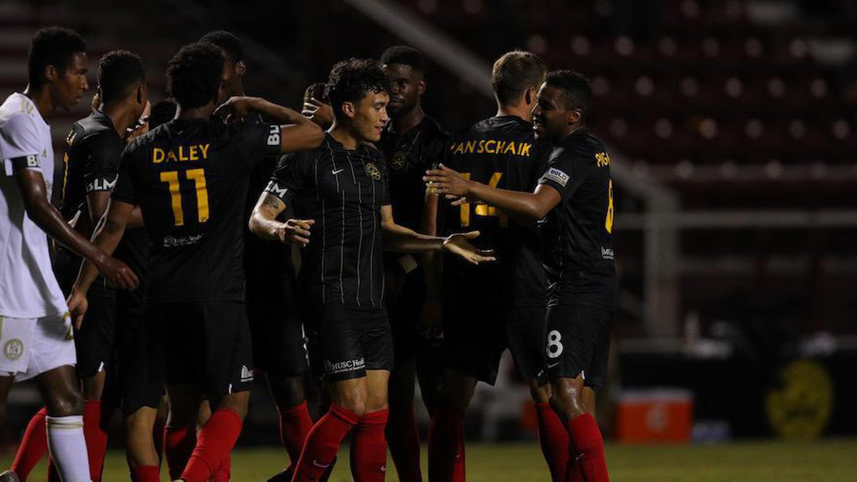 Charleston wins their 1st ever game at Patriots Point with a 3-0 win over Atlanta United 2 on...