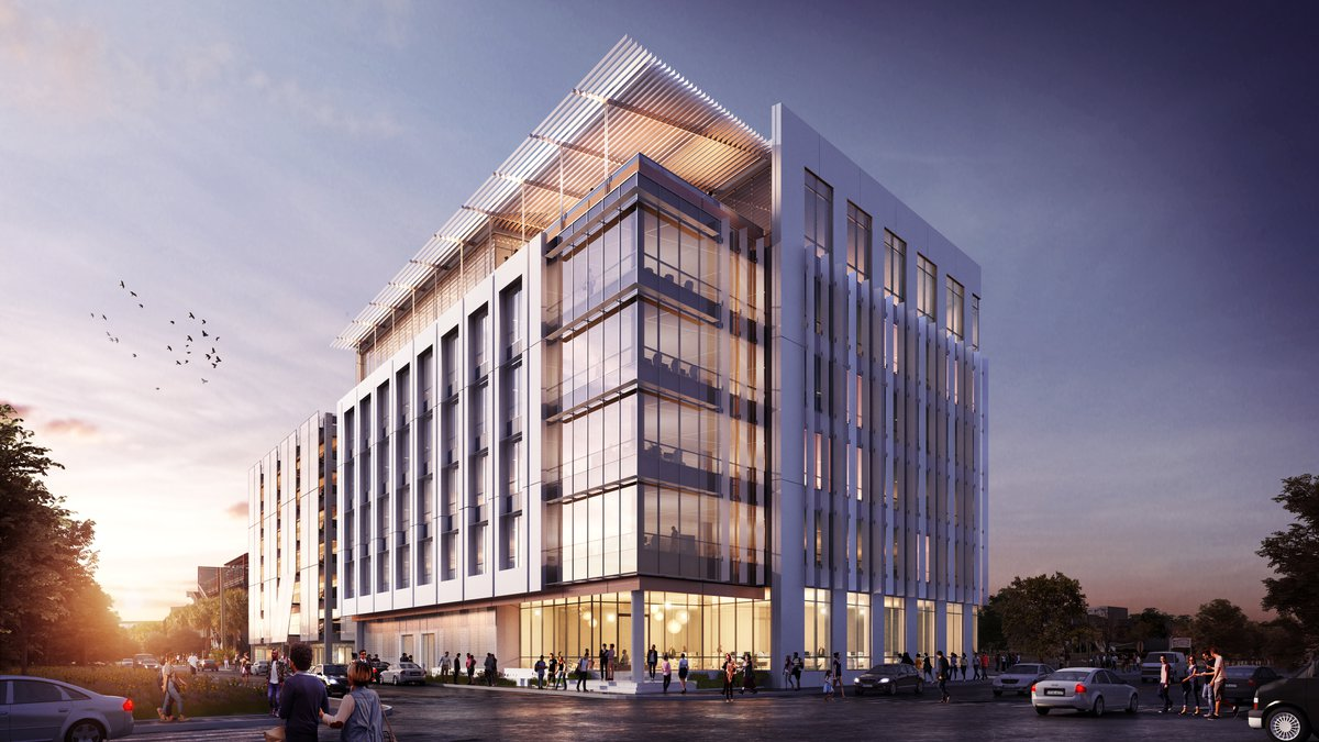 The Charleston Tech Center, also known as Flagship-3, is set to open in the fall of 2020....