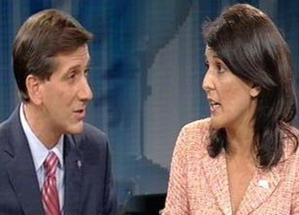 Sen. Vincent Sheheen and Gov. Nikki Haley are pictured here in a 2010 gubernatorial debate....
