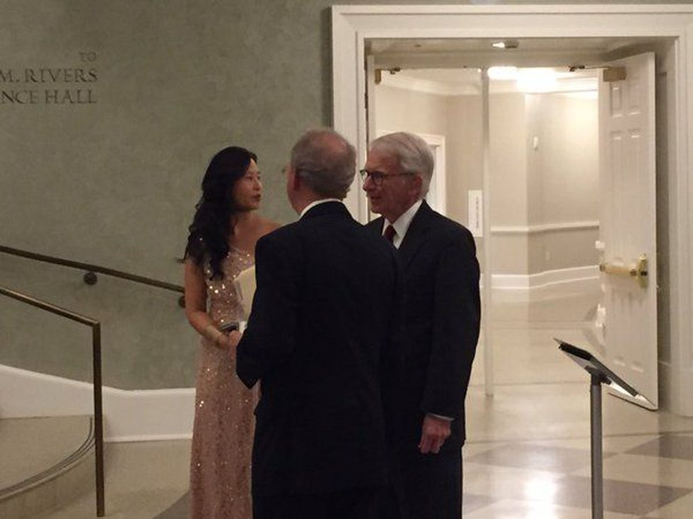 Mayor Riley arriving at the event. (Source: WCSC)