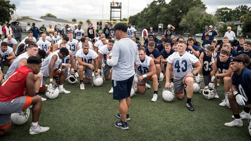 Fall football practice kicked off for The Citadel on Wednesday