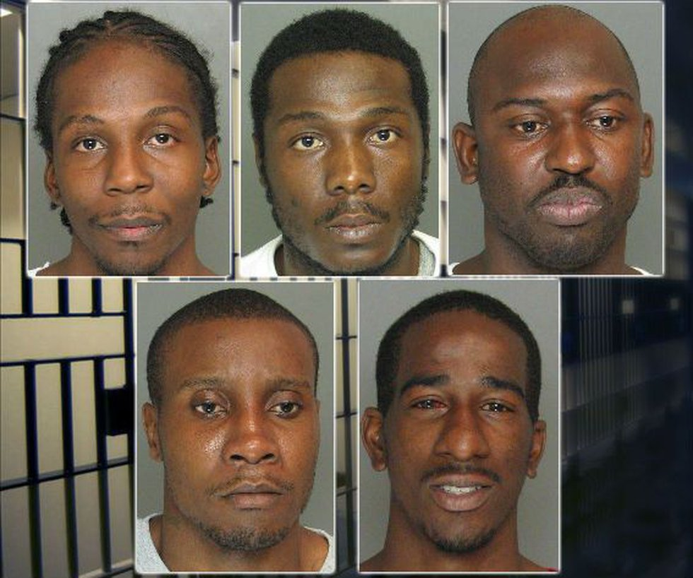 Clockwise from top left: Bowman, Scriven, Hampton, Wilson, and Fryar. (Source: CCSO)