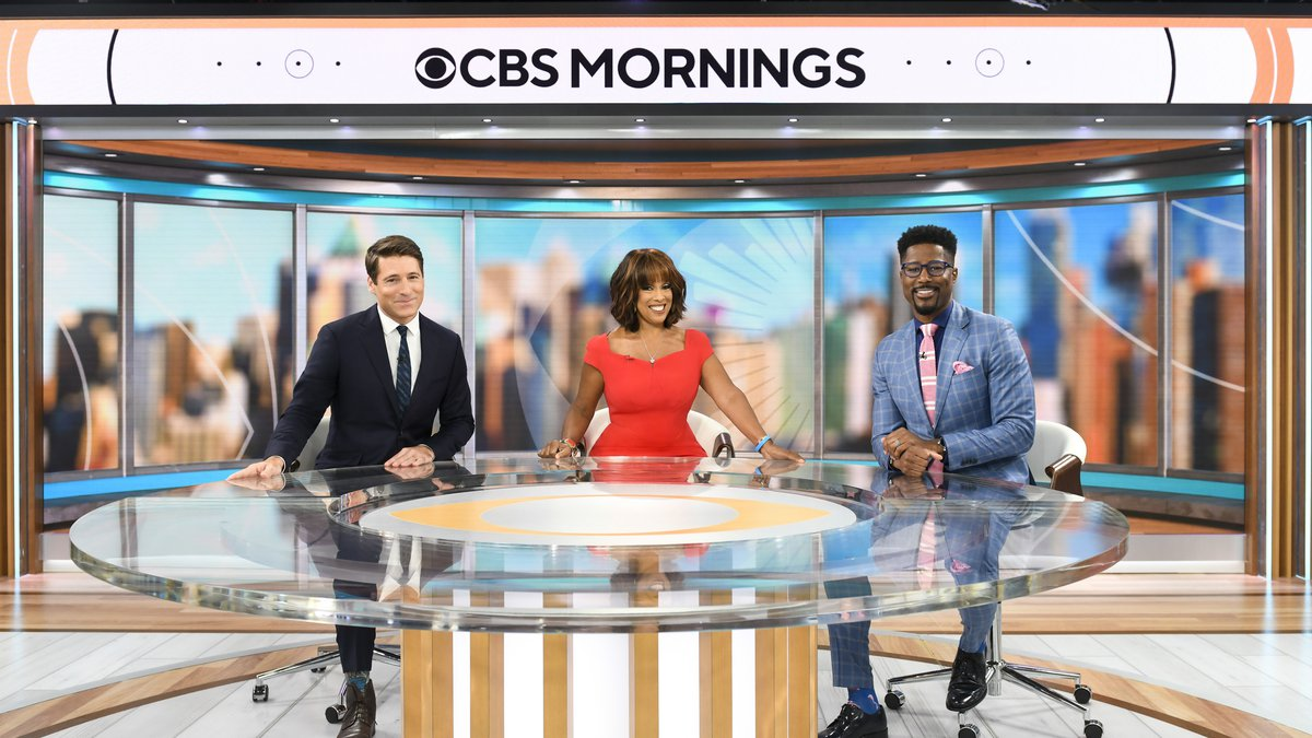 CBS Mornings will broadcast live from 1515 Broadway in Times Square. Pictured (L-R): Tony...