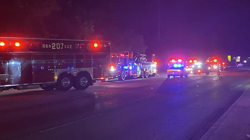 Crews responded to a fire in the 9400 block of Highway 78 on Sunday night.