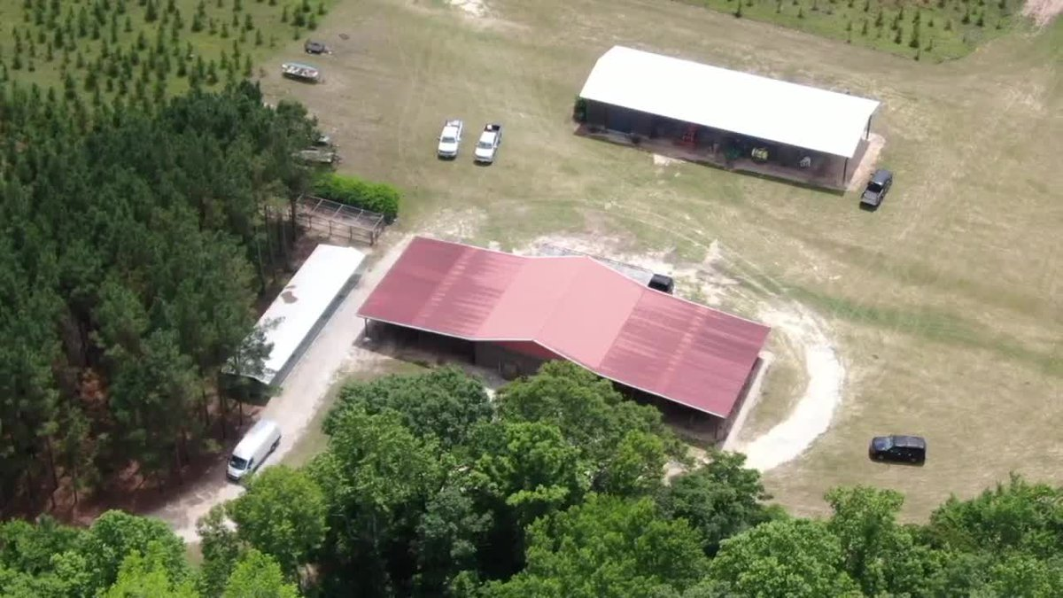 Authorities on the scene of the murder investigation at the Murdaugh family property on Moselle...