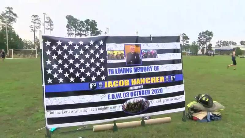 PFC Hancher's former fitness group holds workout in his honor