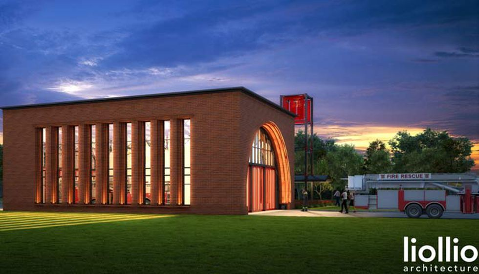 The new Charleston Fire Station 11 is being built next to the Charleston 9 Memorial Park in...