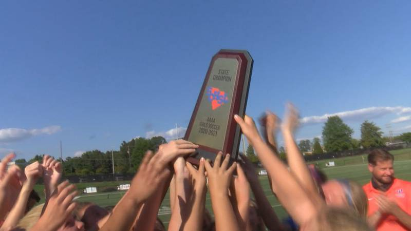 The James Island girls use a second half goal to down Catawba Ridge 1-0 in the 4A state...