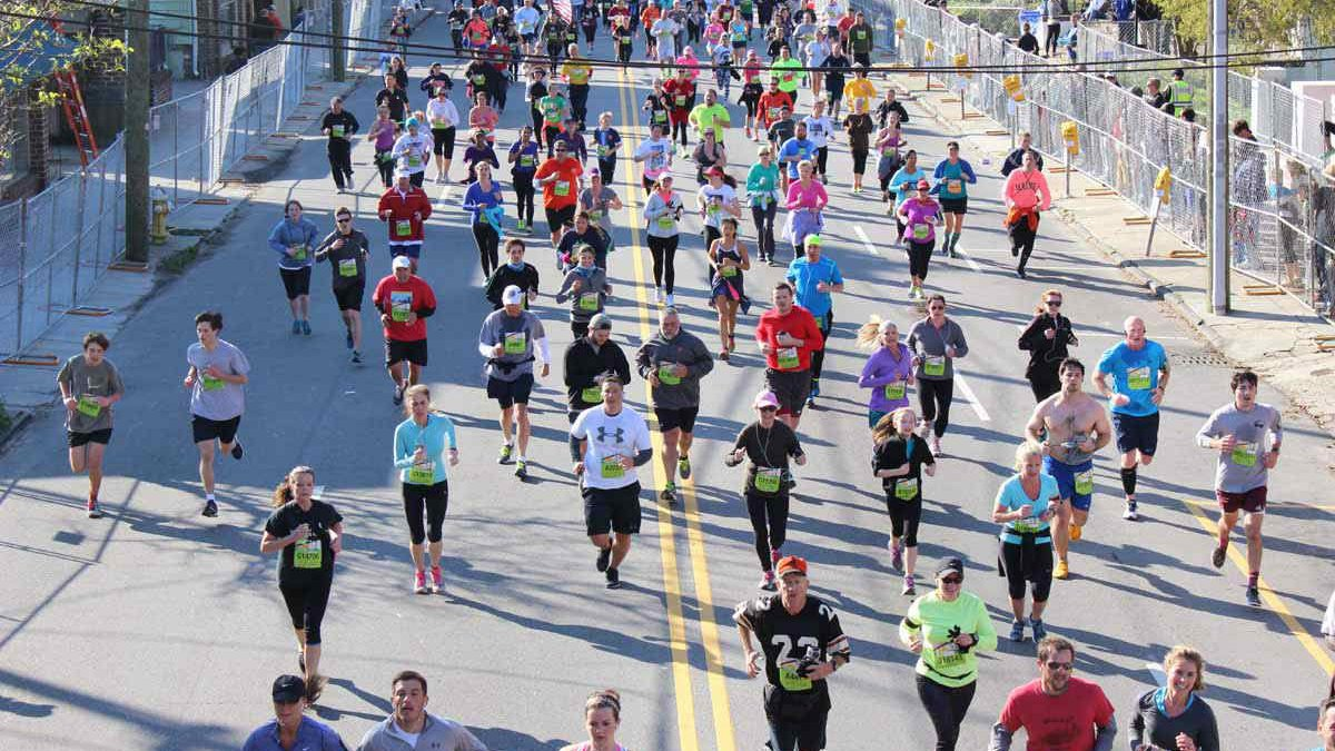 You could have thousands wearing your design at the next Cooper River Bridge Run. (Source: Live...