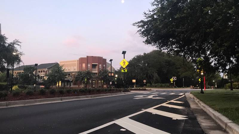 The roundabout is scheduled to be completed on Friday morning.