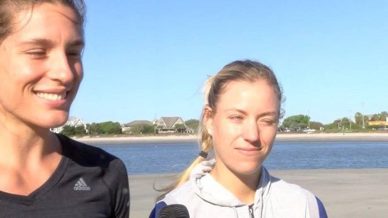 RAW: Angelique Kerber, Andrea Petkovic preview Volvo Car Open
