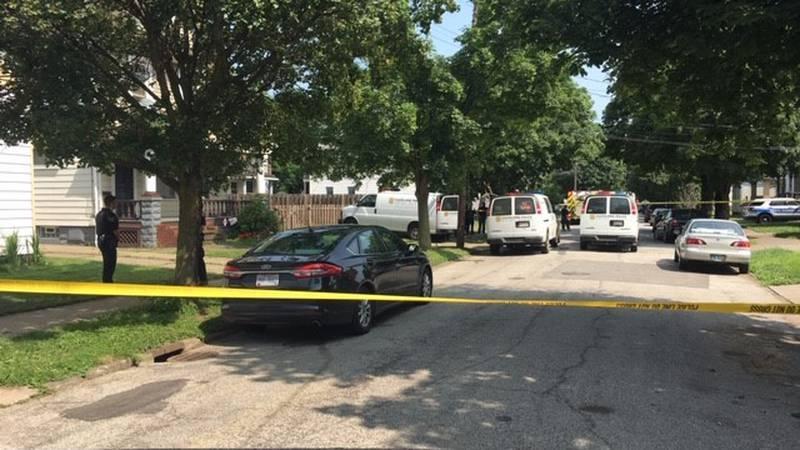 Crime scene on East 63rd Street
