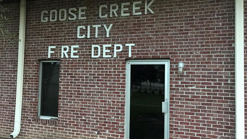 A sign marks the old Goose Creek fire department headquarters (Source: Live 5)