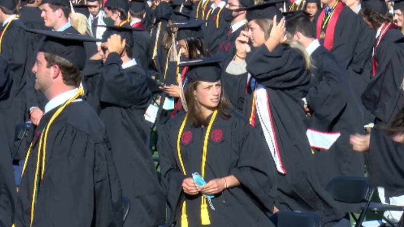 Recent college graduates say despite numerous job openings, there's an important reason they're...