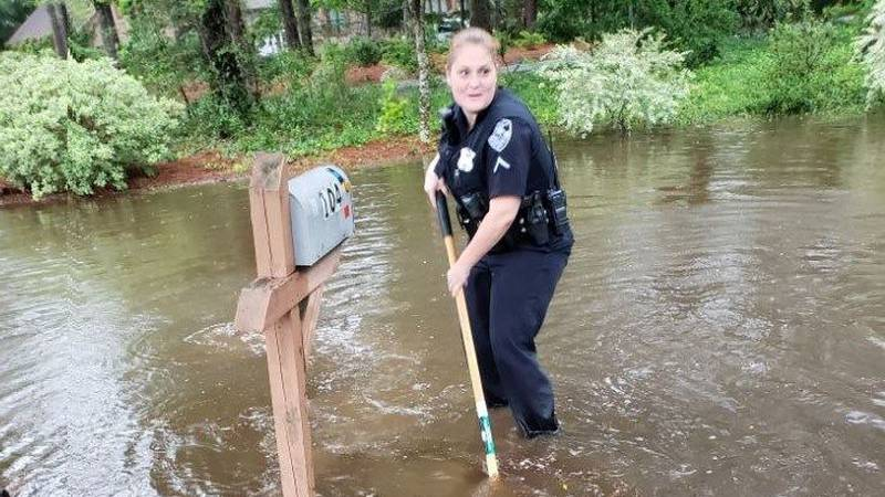Summerville officer Angie Elmore trying to keep storm drains clear (Source: Town of Summerville)