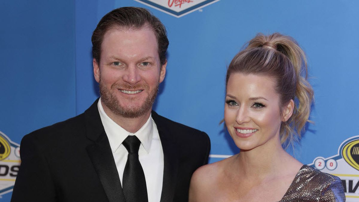 Dale Earnhardt Jr. and his wife, Amy. (Associated Press)