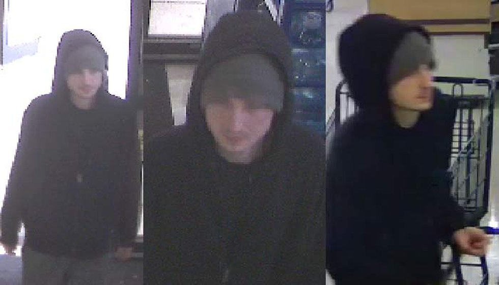 Police released surveillance images from a Sunday afternoon robbery at a Mount Pleasant grocery...