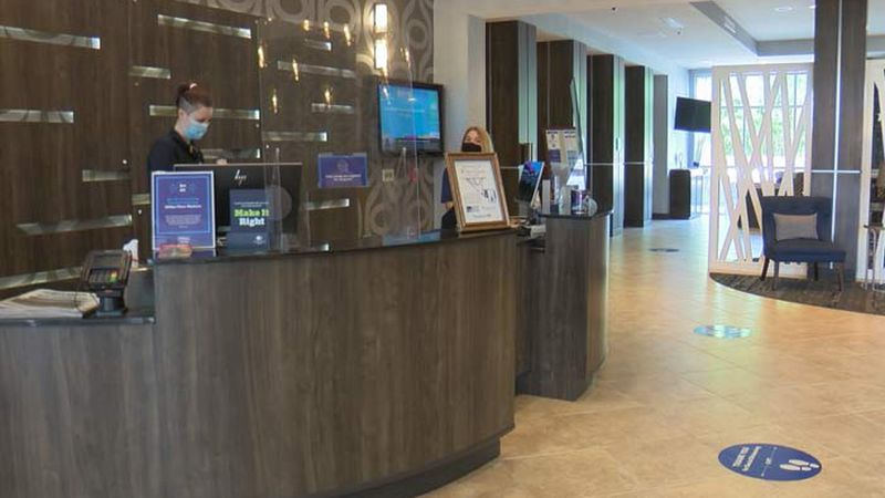 The College of Charleston's Office of Tourism Analysis said just in the past six weeks, hotels...