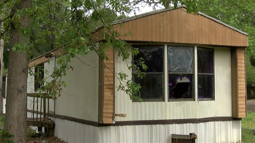 BCSO deputies say Holmes' last known address was this trailer on Corey Drive (Source: Live 5)