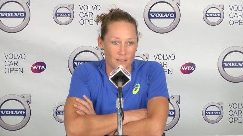 RAW: Sam Stosur after Volvo Car Open Tuesday win