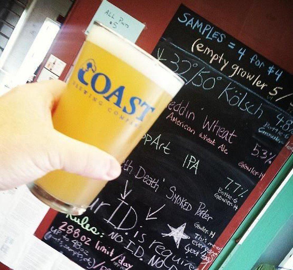 Pint of beer at COAST. (Source: Robertdonovan, Instagram)