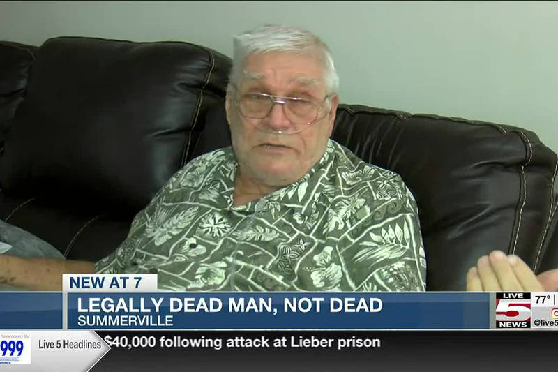 VIDEO: Legally dead man, not dead